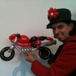 Ducati mit Mr. Balloon