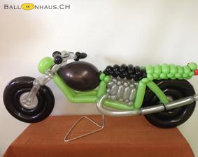 Motorrad grün silber schwarz klein
