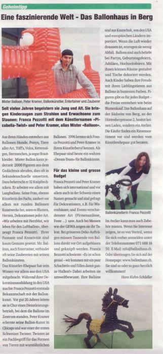 Zeitungsartikel Weinfelder Anzeiger web